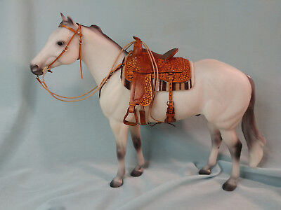 Traditional 1:9 Scale Western Saddle Set for Breyer, Peter Stone, Ect...
