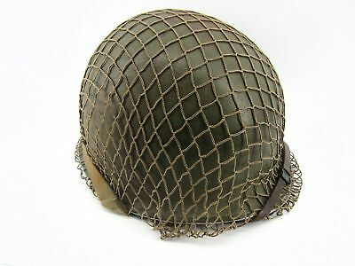 WW2 II US Army Helmet - Complete with Straps, Liner & Net- Named GI