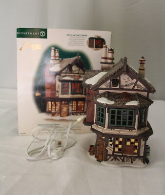 "Department 56 Dickens Village Series ""EBENEZER SCROOGE'S HOUSE""  #56.58490 MIB"