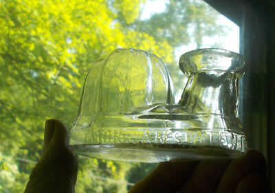 Morgan's Patent 1867 Domed Igloo Shape Inkwell Hand Blown Paneled