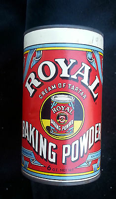 1963 Advertising Tin Royal Baking Powder Standard Brands Inc. New York Org Label