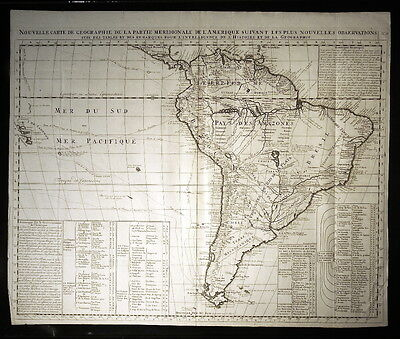 1714 Map of South America by Henri Chatelain:  Nouvelle Carte De Geographie De L