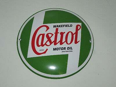 Castrol Wakefield Motor Oil Porcelain Button Sign