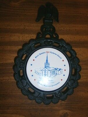 St. Joseph's (HILL) Lutheran Church 1731-1976 Cast Iron Trivet Boyertown Pa.