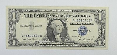 Crisp 1957 $1.00 Silver Certificate United States Dollar Currency Note *833