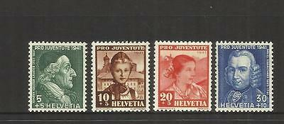 Switzerland ~ 1941  Pro Juventute Children Charity Stamps