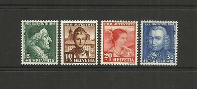 Switzerland ~ 1941 Pro Juventute Children Charity Stamps Mint Set