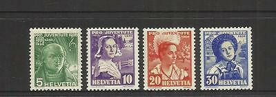 Switzerland ~ 1936  Pro Juventute Children Charity Stamps