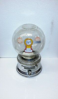 Ford Gumball Machine  Project  Or Parts  Good  Glass No Key