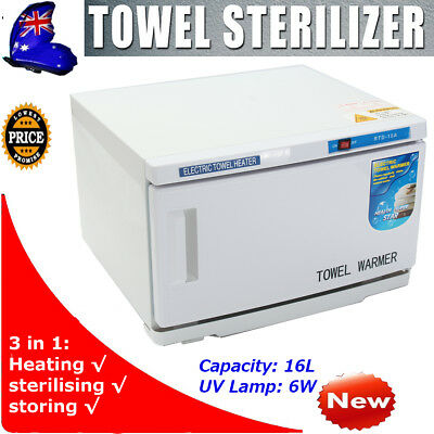 16L UV Towel Tool Cabinet Spa Facial Disinfection Salon Beauty Sterilizer Warmer