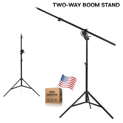 """Photo Studio Continuous Lighting 2 Way Rotatable 110"""" Boom Stand 60"""" Arm Bar"""