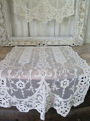 Antique french CURTAINS  Cornely BRODERIE Victorian VORHANG ANTIK Shabby