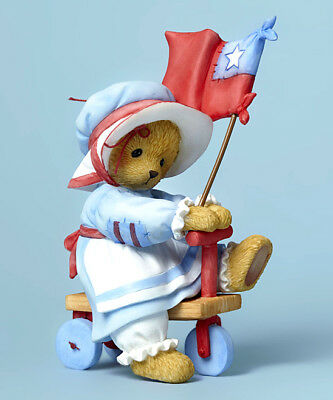 "Cherished Teddies ""lyndi ~ Yankee Doodle"" Tricycle 4045996 New *  Free Shipping"