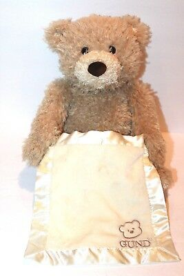 7ed33447da8 Baby Gund Peek-a-Boo Bear Plush Interactive Game Talking Teddy Hide Seek  Blankie