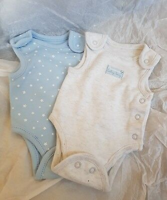 2 PREMATURE baby boy Up to 4lbs bodysuits