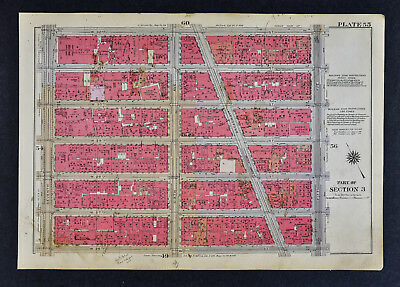 1934 Bromley New York City Map Midtown - Rose Hill Nomad 6th & Broadway 26-32nd