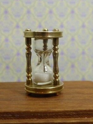 "Dolls House Miniature 1:12 Scale Hand Made Brass Egg Timer 3/4"" Tall"