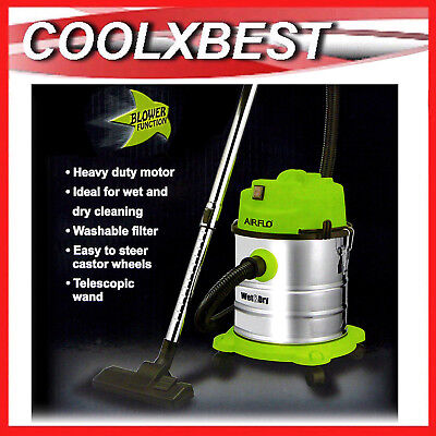 NEW WET n DRY VACUUM CLEANER BAGLESS with BLOWER 20L STAINLESS CANISTER CAR HOME