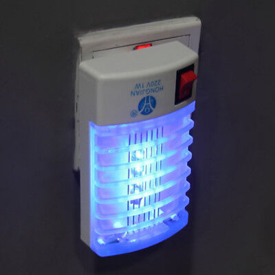Night Lamp LED Electric Mosquito Fly Pest Bug Insect Zapper Trap Killer US&EU