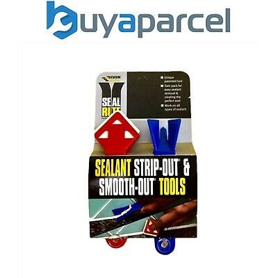 Everbuild Sealant Silicone Strip Out Tool and Smooth Out Tool Twinpack