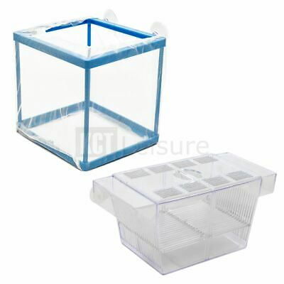 Aquarium Fish Breeding Boxes Breeder Tank Fry Baby Hatchery Net Box Trap Isolate