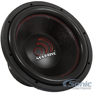 "Massive Audio GTX 124R 2000 Watt Max 12"" Inch Dual 4 Ohm Car Subwoofer Open Box"