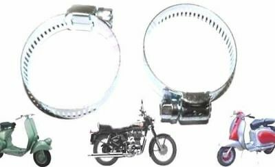 New Lambretta Scooter Carburettor Air Hose Clamp Clip Set Of 2 @aus