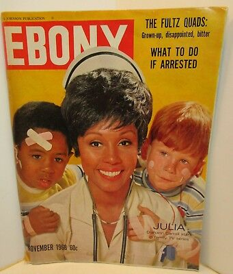 1968 EBONY Magazine TV JULIA DIAHANN CAROLL, What to Do If Arrested Article