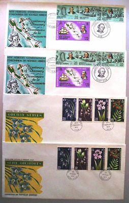 New Hebrides 1973 - 1974 - Two FDCs - English & French issues (4 Covers) - (47)