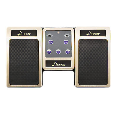 Super Donner Bluetooth Page Turner Pedal for Tablets Rechargeable Gold Fast Ship