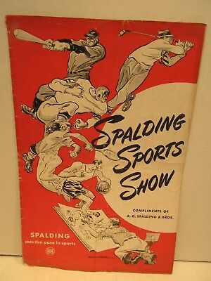 1945 Spalding Sports Show Comic Book Magazine A.G. Spalding & Bros Baseball Golf