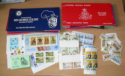 Postage stamps Isle of Man Large collection 41 presentation pack blocks booklet