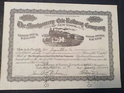 The Montgomery and Erie  Railway Co. of New York 1947  FREE SHIPPING