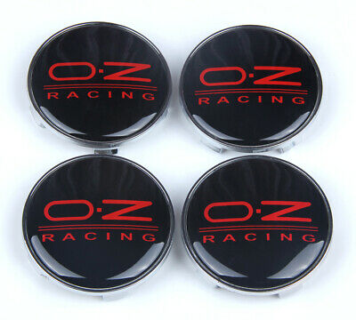 4Pcs 68mm Black Red OZ Racing Wheels Center Caps Hub Cover Hub Caps Emblem Badge