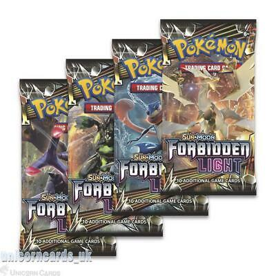 Pokemon TCG: Sun & Moon Forbidden Light :: 4 Booster Packs - All 4 Types - Brand