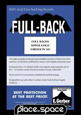 50 x SUPER GOLD SIZE FULL BACK COMIC BACKING BOARDS (SUPPLY588)