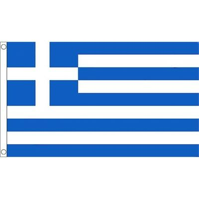 5ft x 3ft Greece Flag With 2 Eyelets - Greek 5ft National Country Metal