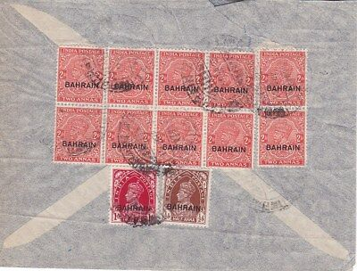 1939(?) Bahrain #19c(10),#21,#23 on over to US*d