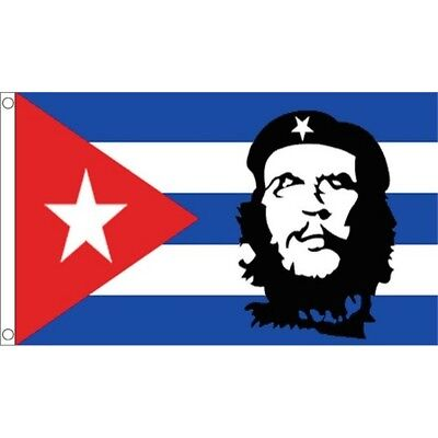 5ft x 3ft Che Guevara Cuba Flag - () 5ft With Metal Eyelets
