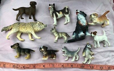 Dog Puppy Wolf Collection Figures SCHLEICH Germany Animals - Free US Shipping
