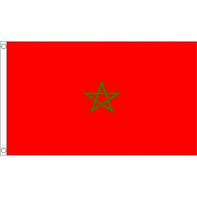 3ft x 2ft Small Morocco Flag - Moroccan 3ft National Country Metal Eyelets