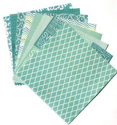 Seaglass Blue - 6x6 Recollections Home Basics Scrapbooking Paper Pack - LAST SET