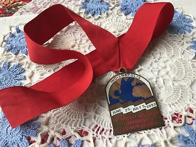 Indianapolis IV World Masters Swimming Championships Medal~Peggy Wirt~Nancy Drew