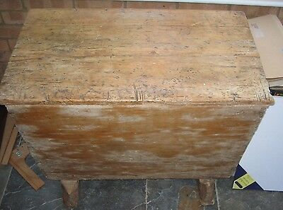 Antique Rustic Agricultural or Farming  Wooden Bin ? for Corn or Meal