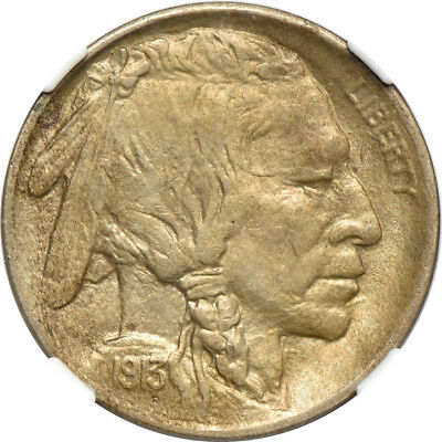 1913 Type 1 Buffalo Nickel MS/ Mint State 63, NGC