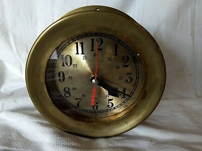 "61/4"" Bell Quartz Brass Ship's Bell Nautical Clock (Read Description)"