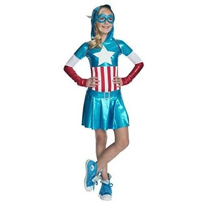 Rubie's Official Child's Marvel Captain America Hoodie Dress Costume - X-large