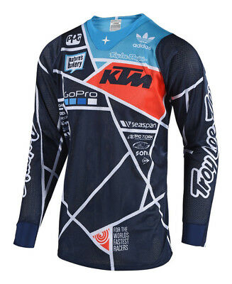 Troy Lee Designs SE Air Metric KTM/TLD Team Navy Motocross Jersey  - Small-XL