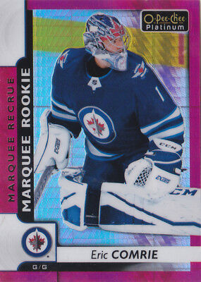 17-18 OPC Platinum Eric Comrie /199 Rookie RED Prism OpeeChee Jets 2017