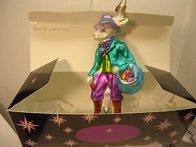 Christopher Radko ornament - Lord Briardasz, Esq. in original box, easter, 8""